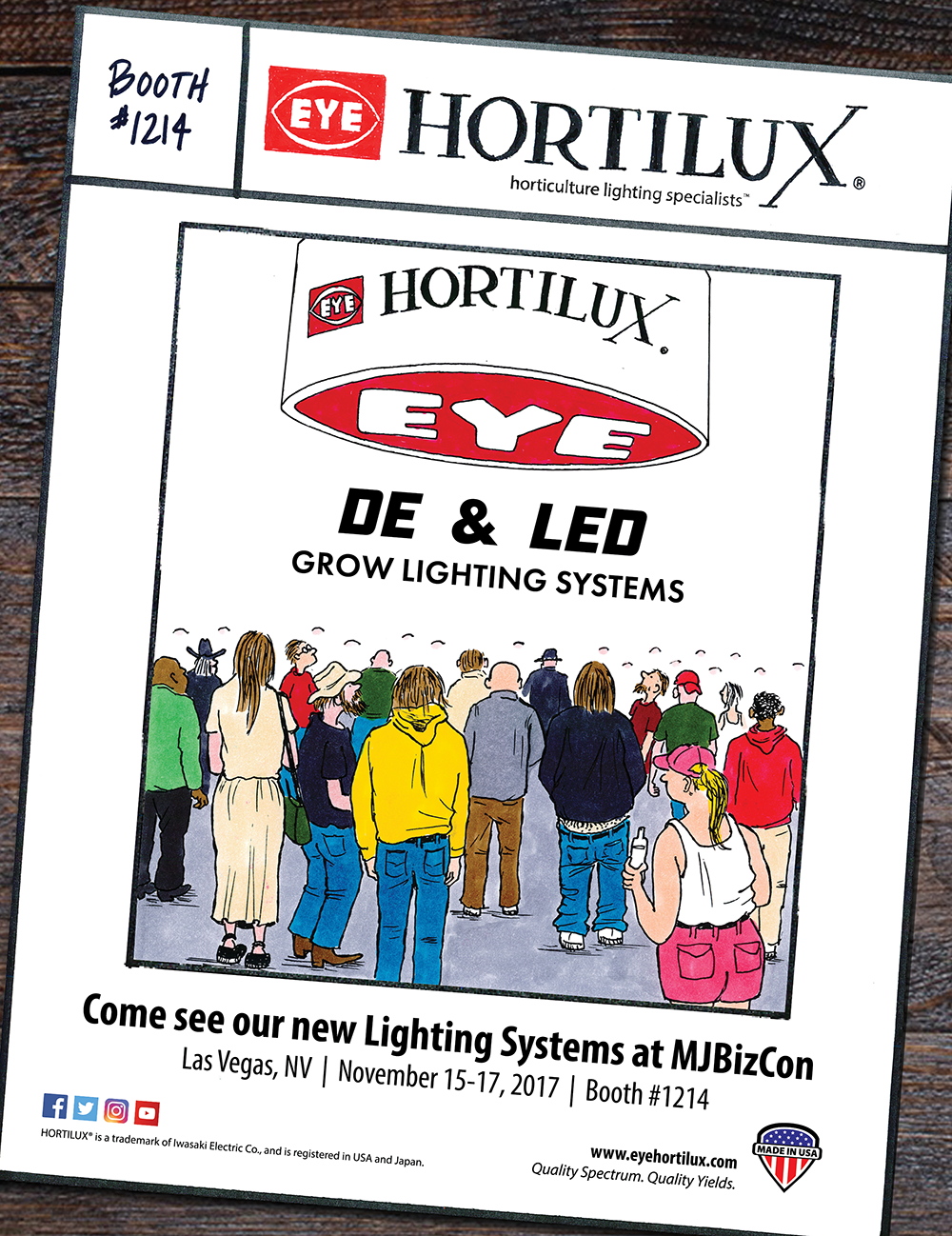 Stop by to see EYE Hortilux at the Marijuana Business Conference and Expo in Las Vegas to see the new DE & LED Grow Light Systems.